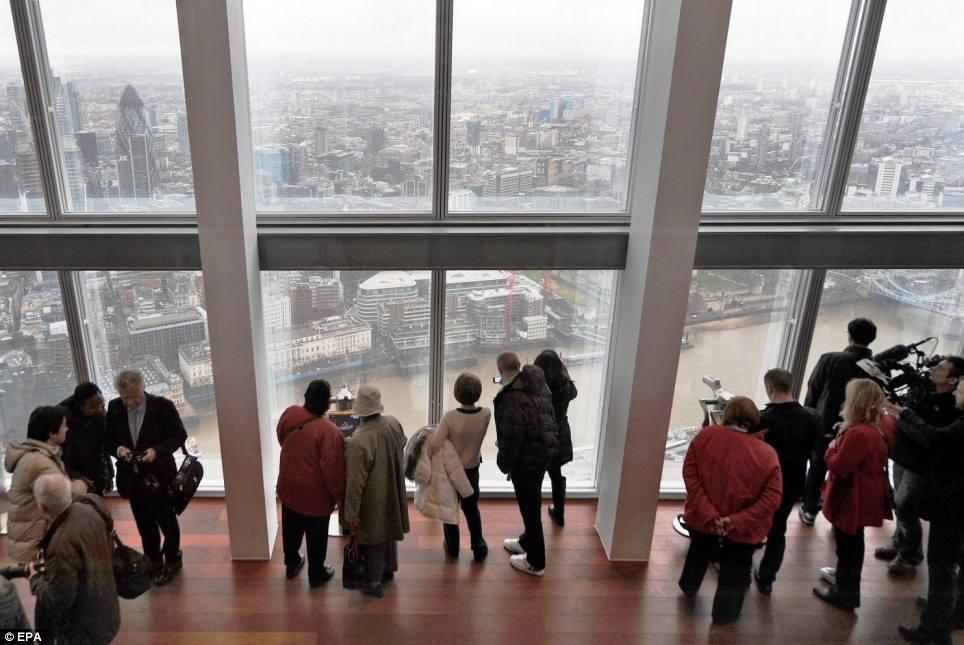 The view from the shard level 68