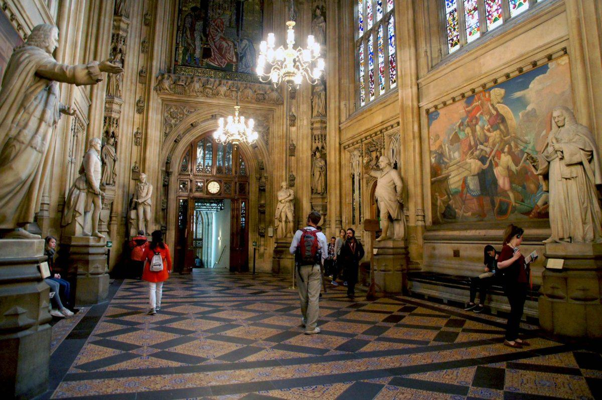 Stepping inside British History at the Houses of parliament audio tour st stephens hall 2