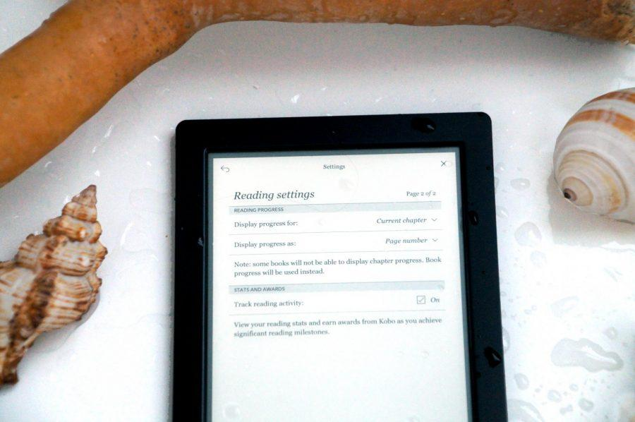 The waterproof kobo aura h20 the only ereader you will ever need on your travels reading settings