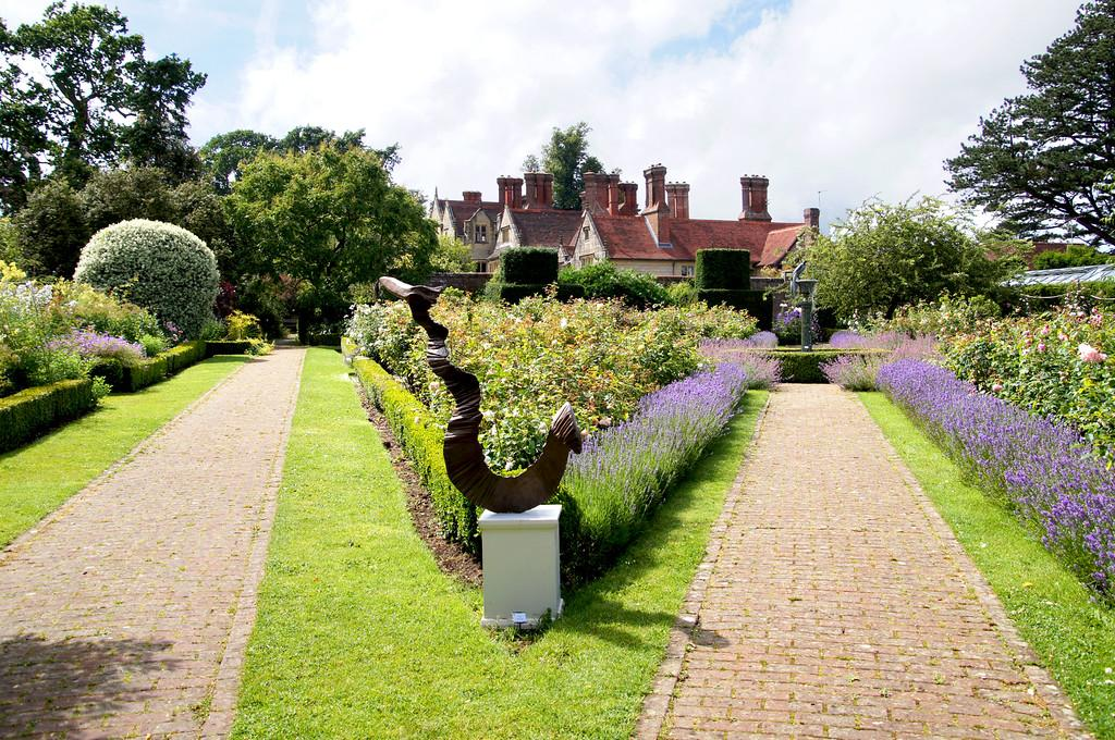 Sculptures and modern art at Borde Hill Garden Eleni rose garden-XL
