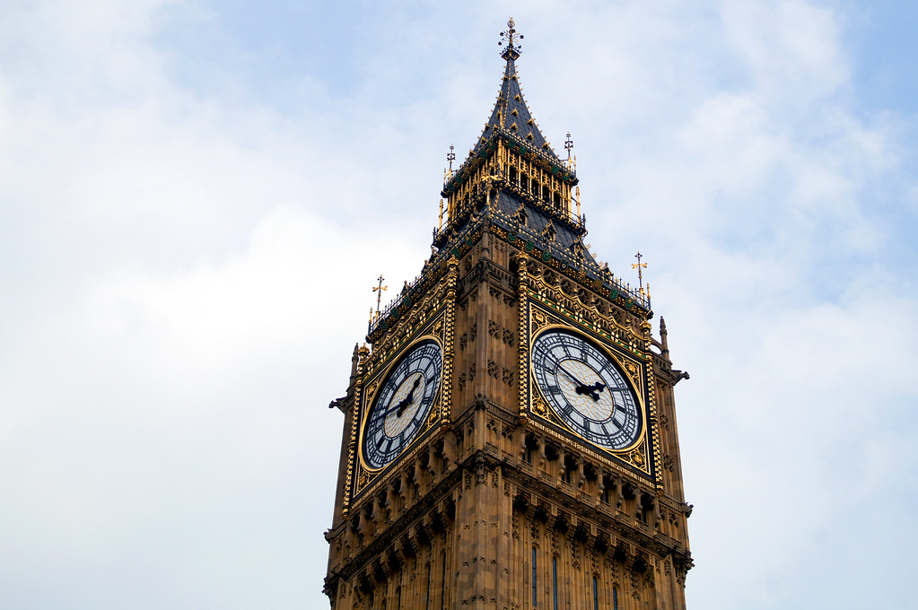 big ben clock tower of the houses of parliament in london