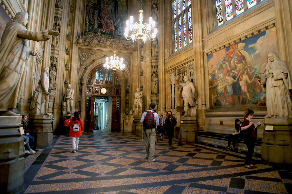st stephens hall in houses of parliament in london