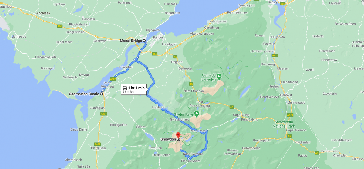 things to do in snowdonia in a weekend location map