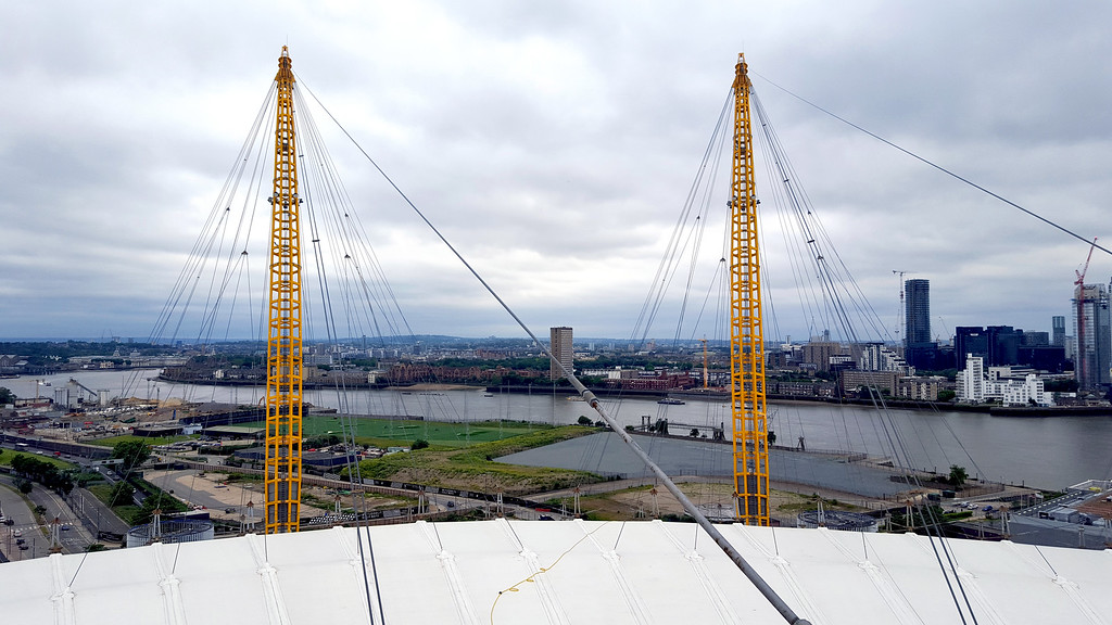 views across down river from up at the 02