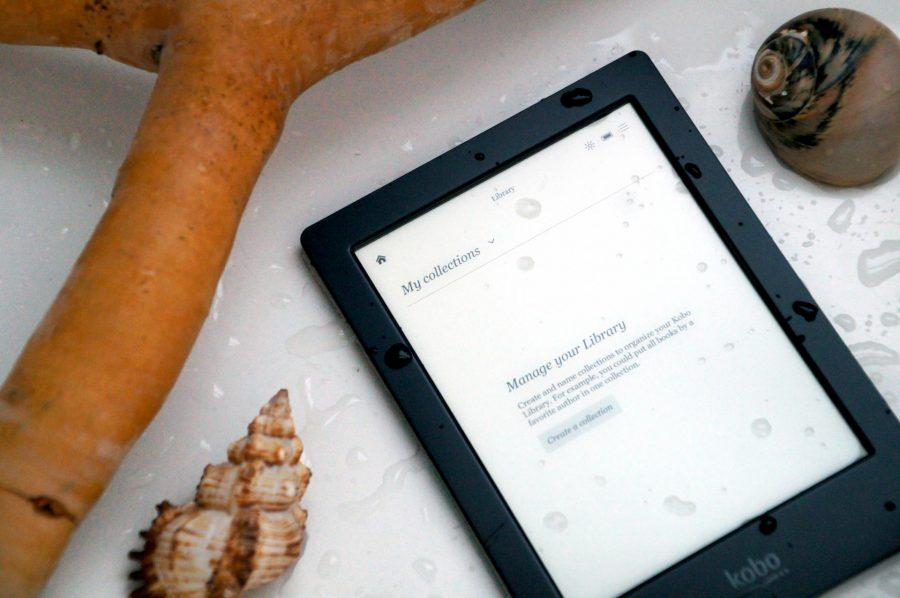 book collection on Kobo H2O Electronic reader