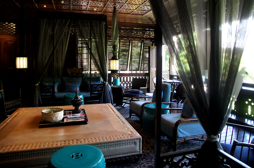 communal lounge at 137 pillars house in chiang mai thailand
