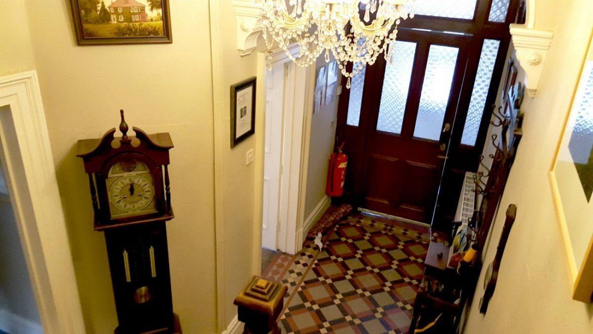 entrance hall of victoria bed and breakfast in caernarfon in snowdonia wales