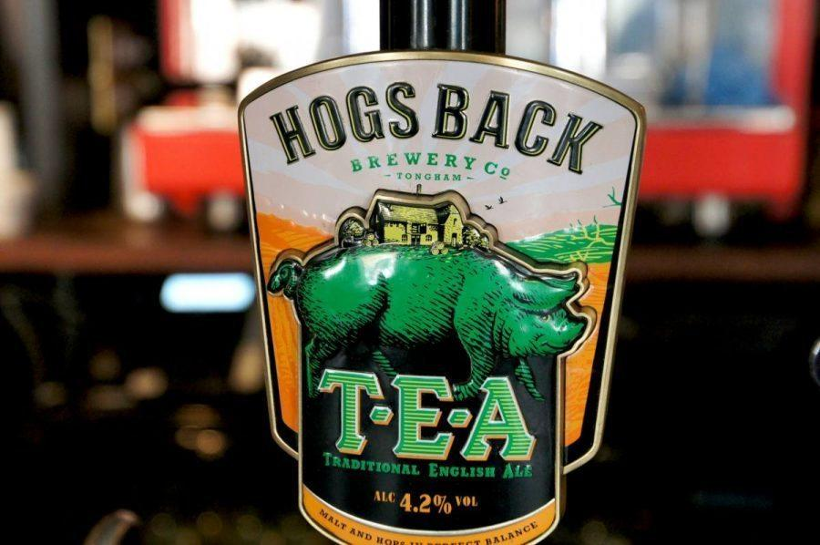 hogs back beer in the pub in the bel and dragon country inn
