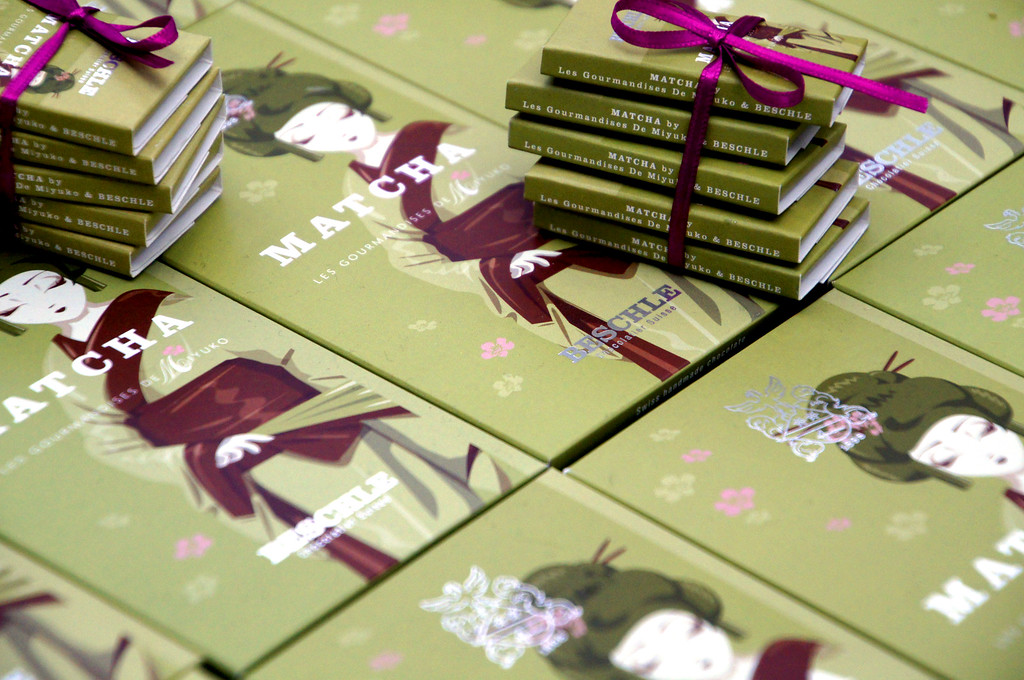 matcha chocolate sold at hyper japan in london