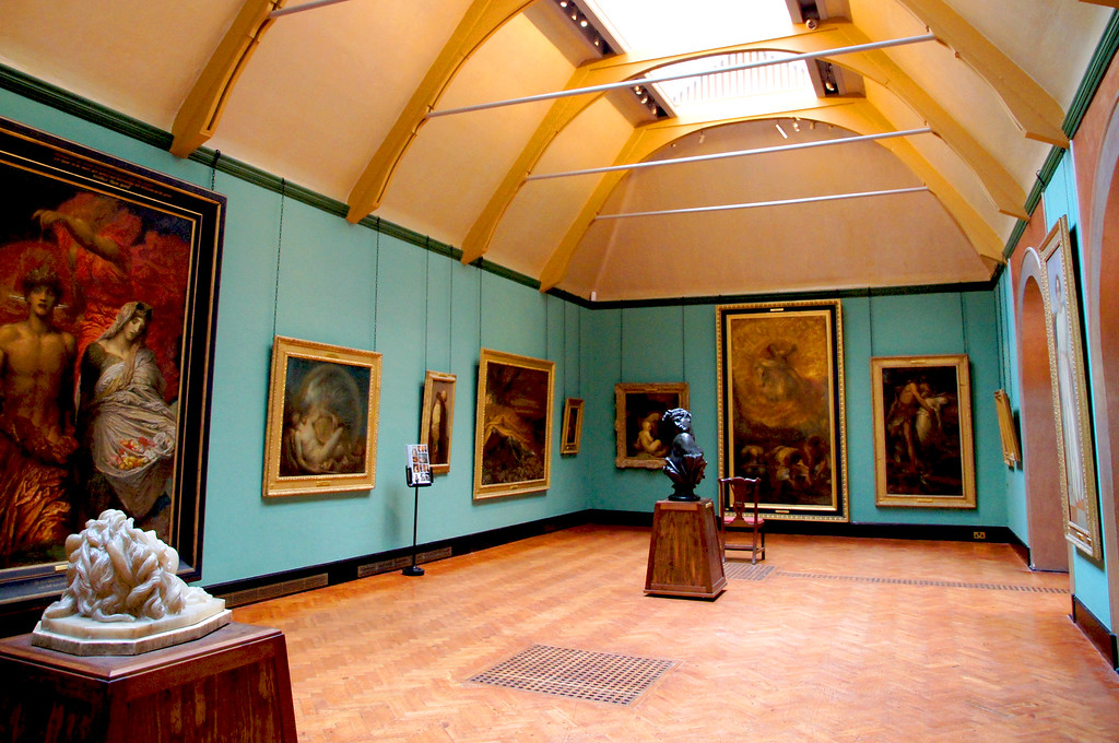 painting gallery inside the watts gallery near guildford