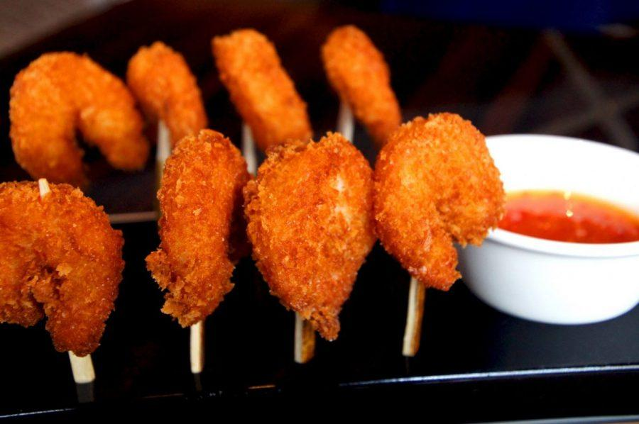panko crusted prawns at the Polo Bar Regent Street Mayfair in London picture 2