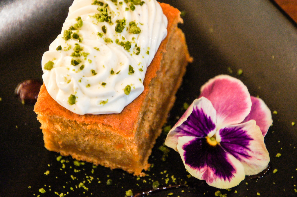 spiced carrot cake and royal indian chai tea at modern indian restaurant dabaar in london picture 2