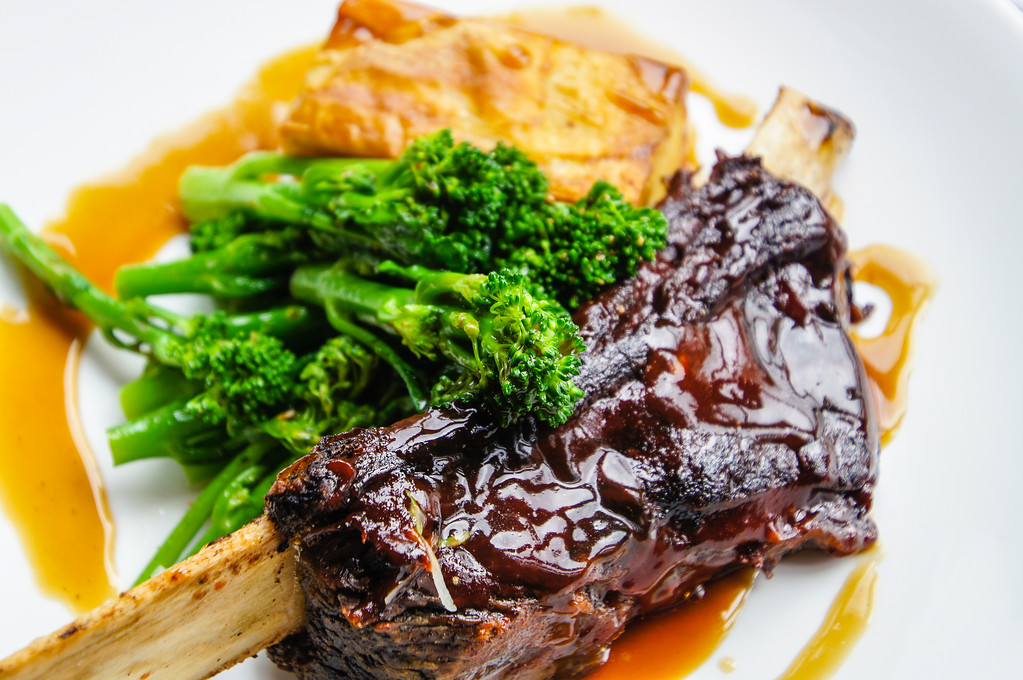 sticky ribs with gratin dauphinois at Fire Stables wimbledon london picture 1