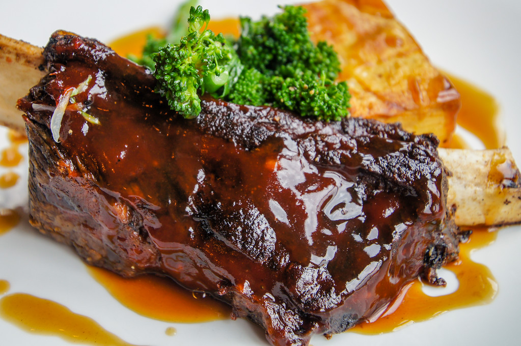 sticky ribs with gratin dauphinois at Fire Stables wimbledon london picture 4
