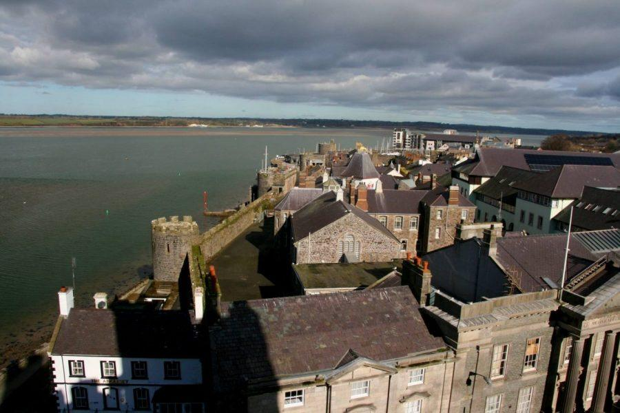 view of Caernarfon from the Castle in snowdonia picture 5
